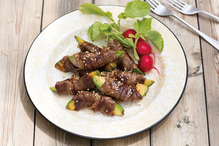 アラジンのプチパン&グラパンでアボカドの肉巻き