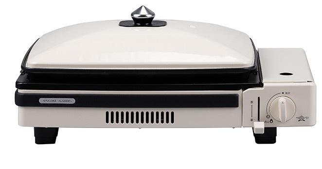 「ポータブル ガス ホットプレート グラパン」ホワイト