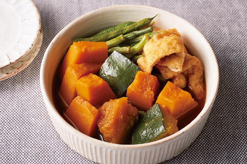 かぼちゃの煮物を【鍋いらず】でストック分まで作る方法。