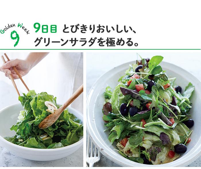 9日目「とびきりおいしい、グリーンサラダを極めてみる。」
