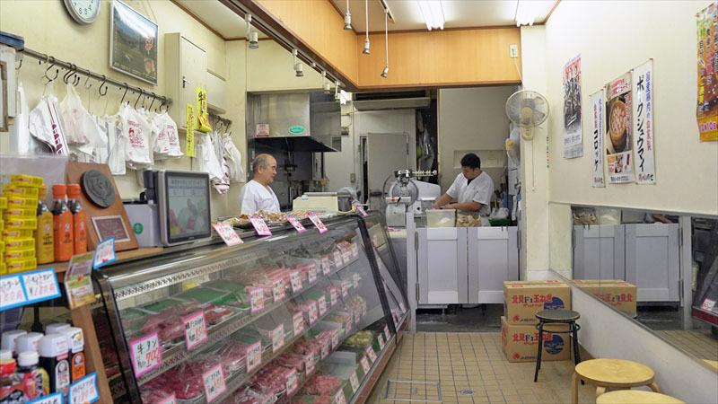 雑色商店街「肉のいのせ」店内