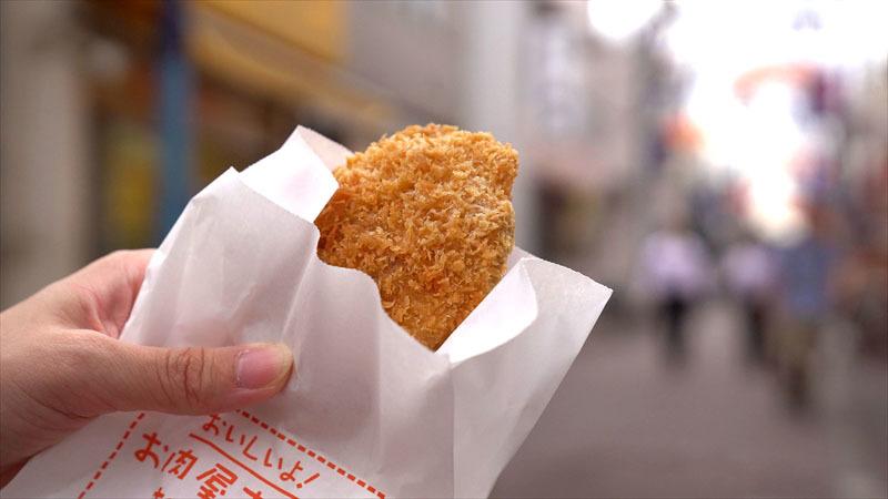 雑色商店街「肉のいのせ」のコロッケ
