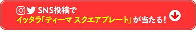 SNS投稿でイッタラ「ティーマ スクエアプレート」が当たる!