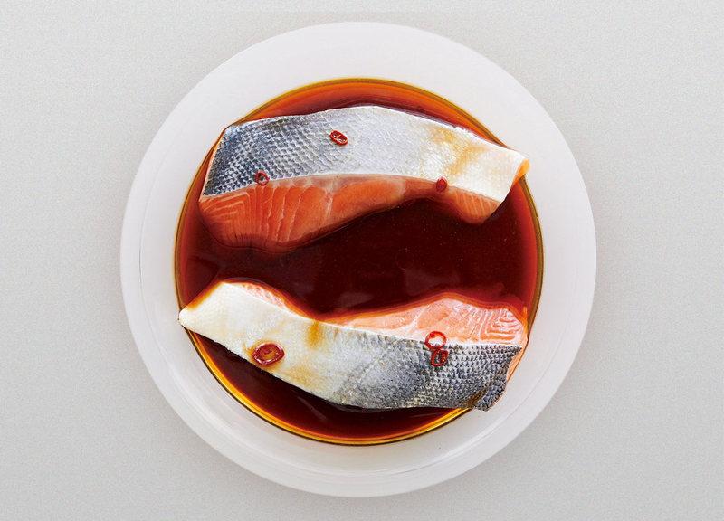 鮭のレンジ南蛮漬け 作り方