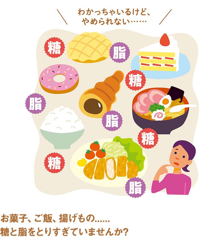 お菓子、ご飯、揚げもの......糖と脂をとりすぎていませんか?