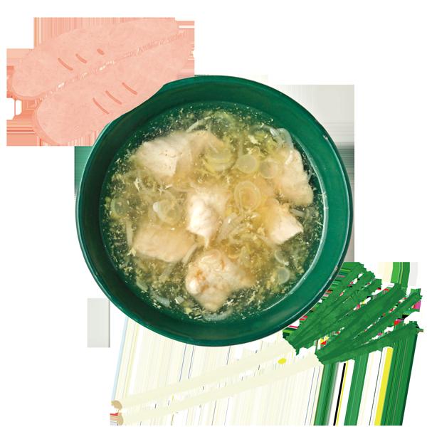ささ身とねぎのとろみスープ