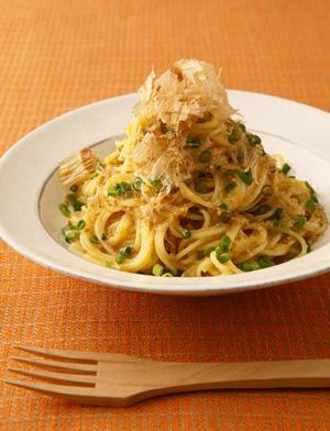 美味しそうな和風カルボナーラパスタ・スパゲッティー
