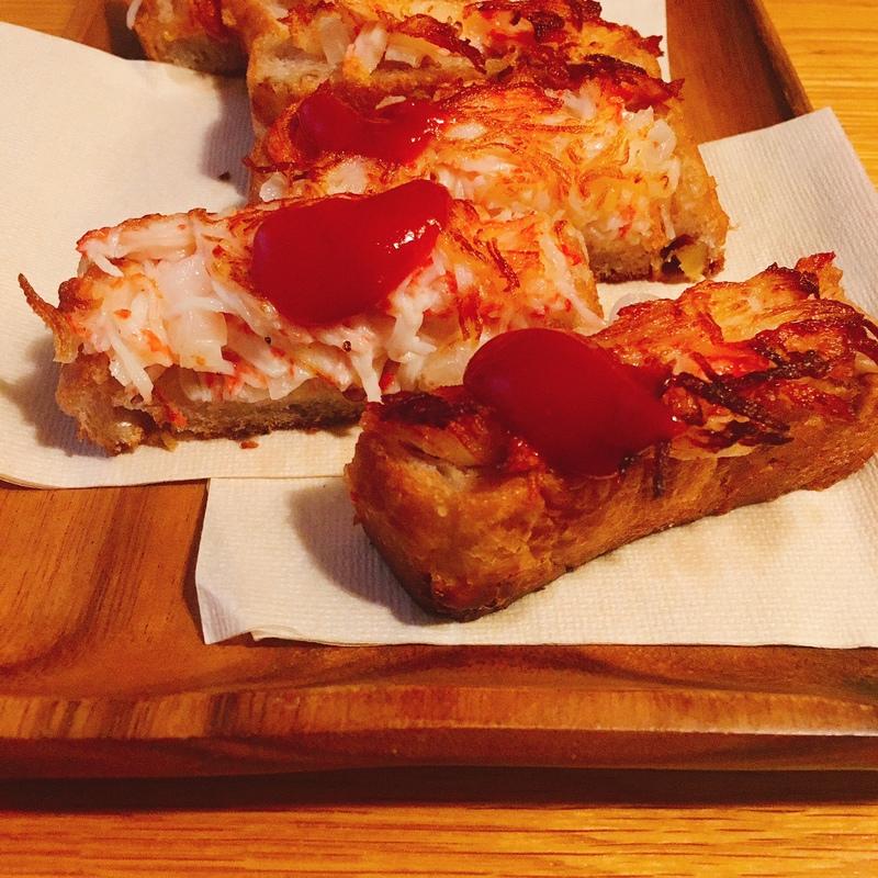【編集Fのテキトーつまみ】かにかま×食パンで★サクサクかにパン