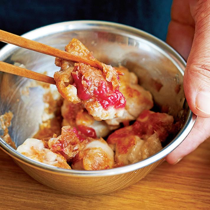 【偏愛! ガチ推しレシピ】鶏の梅おかかがらめ