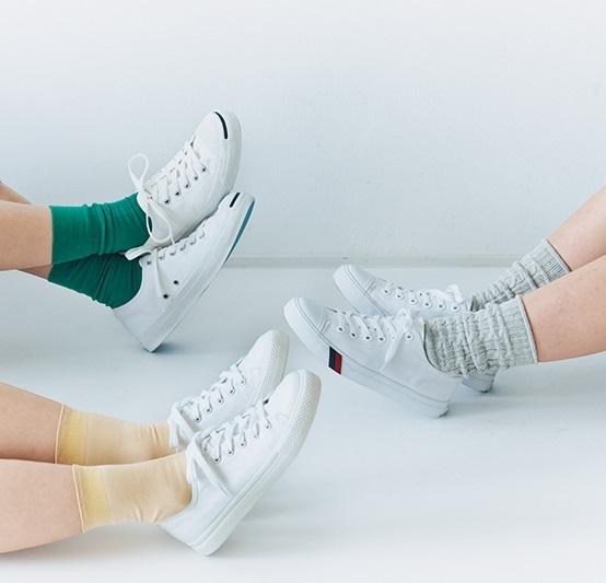 【春の一足】真っ白スニーカーでおしゃれしよう♪