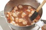 小鍋にあんの材料を入れて混ぜ、えびを加えて弱火にかけ、混ぜながらとろみがつくまで2~3分煮る。器に菜の花を盛り、えびあんをかける。