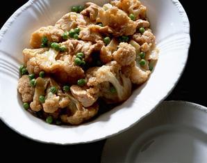 カリフラワーと鶏肉のオイスターソース煮