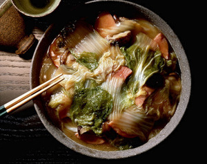白菜とハムの重ね煮