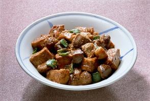 鶏胸肉と生揚げのみそ炒め