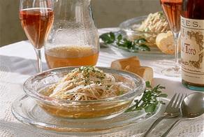 鶏肉とせん切り野菜のスープサラダ