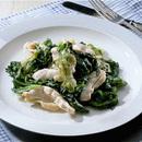胸肉とレタスの蒸し煮サラダ