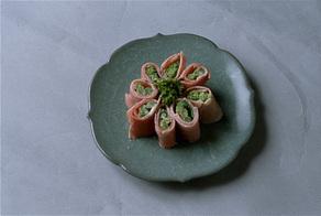 菜の花の生ハム巻き