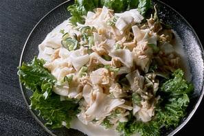帆立貝と大根のサラダ