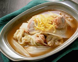 白菜と鮭缶のくず煮