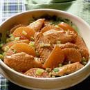 大根と鶏手羽先の炒め煮