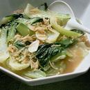 青梗菜と帆立て貝のスープ煮