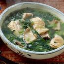 鶏としいたけの中国風雑炊