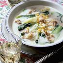豚バラ肉と青梗菜のミルク煮