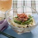 豆腐とハムときゅうりのサラダ