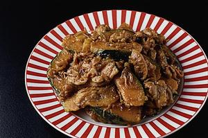 豚肉とかぼちゃのカレー炒め