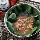 いり卵とサラダ菜のスープ