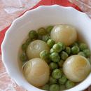 グリーンピース・小玉ねぎのスープ煮