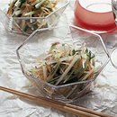 せん切り野菜の梅ドレッシング