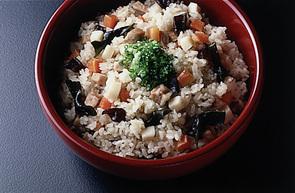 豚肉と昆布の炊き込みご飯