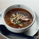 せん切り野菜の辛みスープ