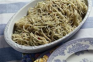 パセリと青じそのスパゲティ