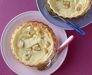 バナナのチーズケーキ風