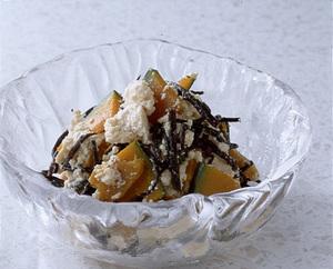 ひじきとかぼちゃの豆腐サラダ