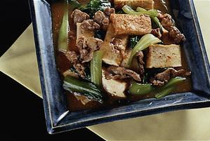 青梗菜と豚薄切り肉の炒めもの