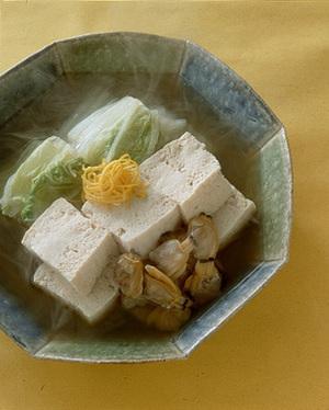 凍り豆腐とあさりの含め煮