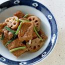 揚げ豆腐と豚肉のオイスターソース風味煮