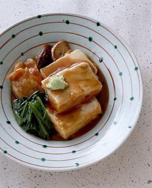 くず豆腐と鶏肉の治部煮