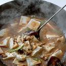 たけのこ、しいたけ入り麻婆豆腐