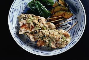 鶏胸肉の韓国風串焼き