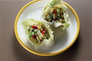 コーンときゅうりのサラダ