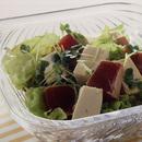 豆腐とまぐろの和風サラダ