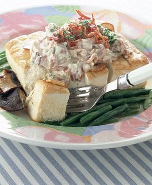 サワークリームの豆腐ステーキ