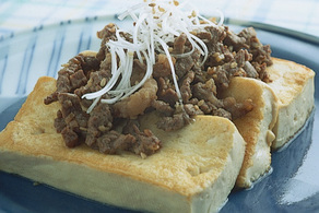 豆腐の焼き肉ソースステーキ