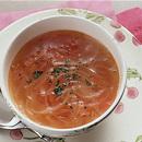 ベーコン入りトマトスープ
