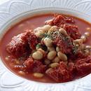 トマトのコンビーフと大豆のスープ