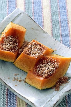かぼちゃのごまと黒砂糖がけ